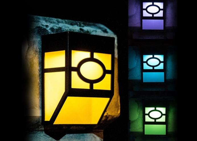 Solar Güneş Enerjili Renk Değiştiren Bahçe Lambası: Duvara Monteli RGB 4 lü Set