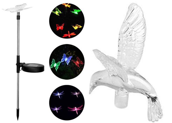 Solar Kuş Güneş Enerjili Bahçe Lambası RGB 2 Li Set