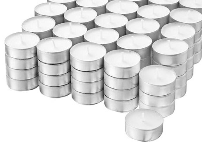 Tealight Mum Kokuksuz Beyaz 50 li paket