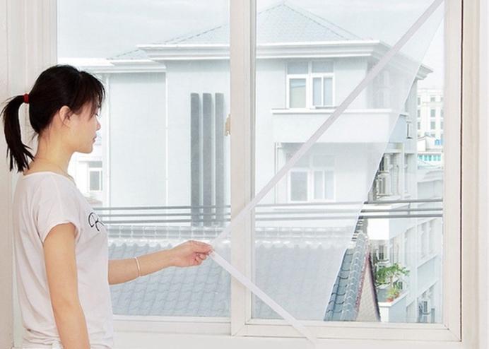 Tüm Cam Pencere Kapılara Uyumlu Tek Kanat Pencere Sinekliği