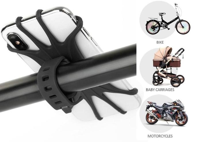 Universal Silikon Telefon Tutucu: Bisiklet Motosiklet Çocuk Arabası