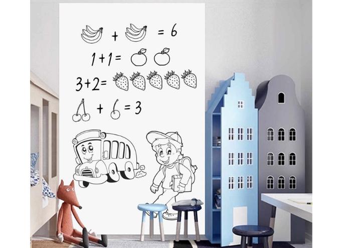 Yapışkanlı Beyaz Yazı Tahtası Sticker Board (45cmx200cm)