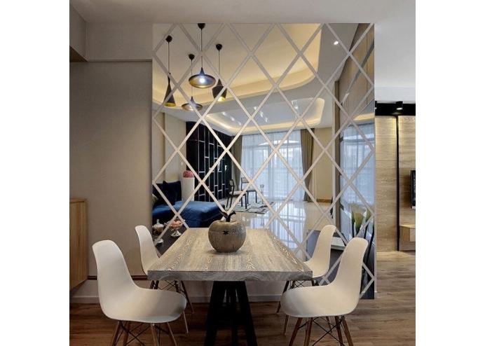 Yapışkanlı Dekoratif Akrilik Ayna ( 17 Parça )
