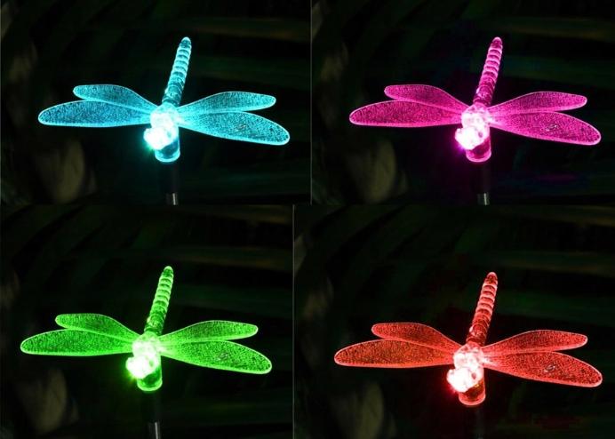 Yusufçuk Güneş Enerjili Bahçe Lambası RGB 2 Li Set